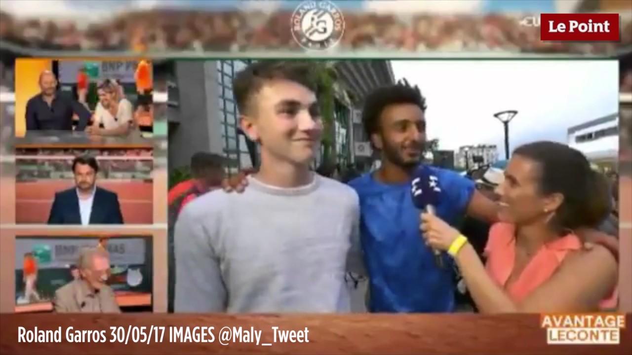 Expulsan de Roland Garros al francés Hamou por propasarse con una periodista