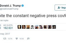 Trump revoluciona Twitter 'inventando' la palabra «covfefe»