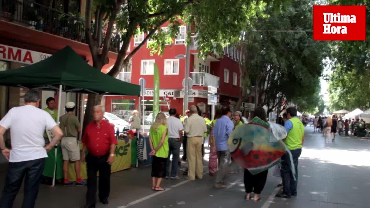 Diada del Medi Ambient en la calle Blanquerna de Palma