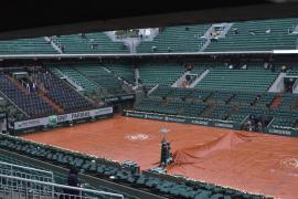 Aplazados varios partidos de Roland Garros por la lluvia