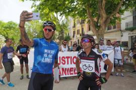 Manifestación por la muerte del ciclista Daniel Viñals (Fotos: Marcelo Sastre)