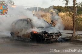 Arde un coche abandonado en s'Arenal