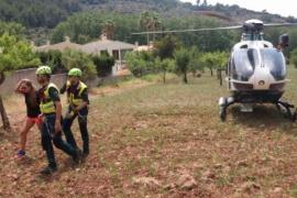 Sale a correr por la montaña en Mallorca y tiene que ser rescatada por la Guardia Civil