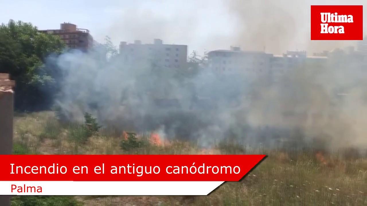 Fuego en el antiguo canódromo de Palma