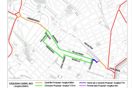 La señalización del carril bici del eje Dragonera-avenida Argentina estará lista el 15 de junio
