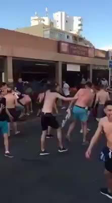 Batalla campal en Punta Ballena entre ingleses y escoceses