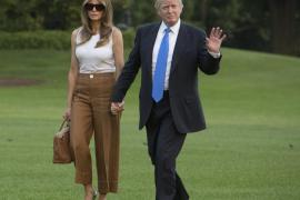 Melania Trump y su hijo se instalan en la Casa Blanca
