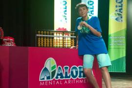 Un niño menorquín, plata en el Campeonato Nacional de Cálculo