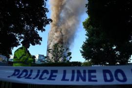 Incendio en un edificio de Londres