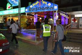 Levantadas 14 actas en la Playa de Palma a locales por incumplir las ordenanzas