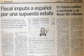 Buscan al empresario mallorquín acusado de estafa en Paraguay