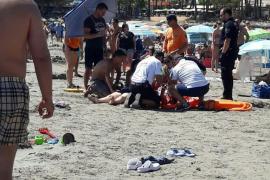 Una mujer alemana es reanimada por los socorristas en Peguera con síntomas de ahogamiento