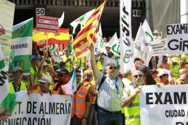 Los examinadores de tráfico, en huelga
