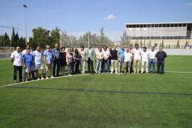 Inauguracion de la remodelación del campo de la Antoniana