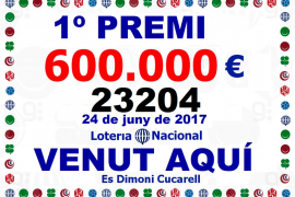 Cae en Muro el primer premio de la Lotería Nacional coincidiendo con las fiestas patronales