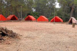 Regularizan ahora la zona de acampada de sa Comuna en Lloret