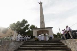 Misa y procesión en lo alto del mirador de Montecristo (Fotos: Daniel Espinosa).
