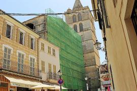 Comienzan las obras de restauración de la iglesia de Sineu, estancadas desde 2012