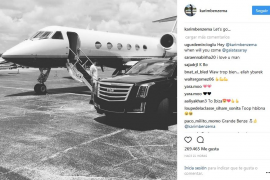 Benzema, de vacaciones en Ibiza