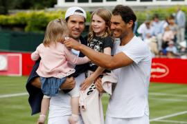 Rafa Nadal gana su segundo partido de exhibición previo a Wimbledon