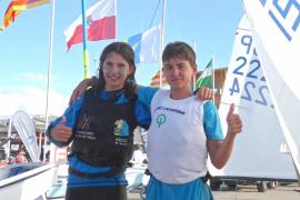 Manuel Álvarez-Dardet y Laura Martínez, campeones de España de Optimist