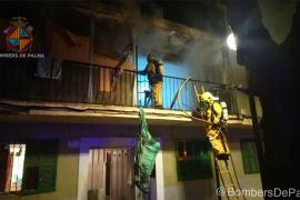 Dos personas resultan heridas de carácter leve en el incendio de un piso en Son Gotleu