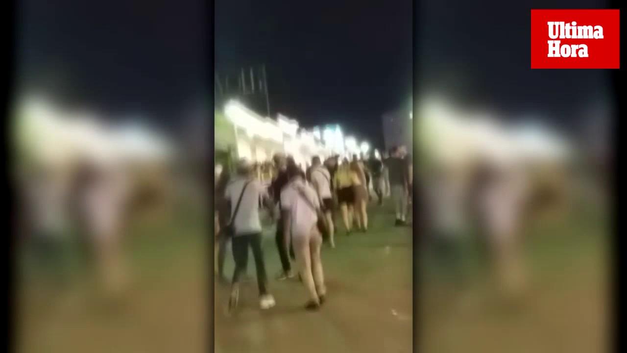 Pelea entre dos grupos de vendedores ambulantes en Punta Ballena