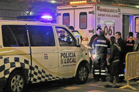Dos heridos tras una pelea por una discusión de tráfico en las Avenidas de Palma