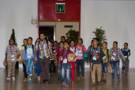 Llegada de los niños saharauis a Palma