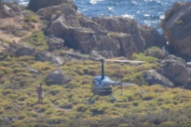 El Govern ya ha identificado la empresa del helicóptero del vídeo de S'Illot des Toro y tomará medidas