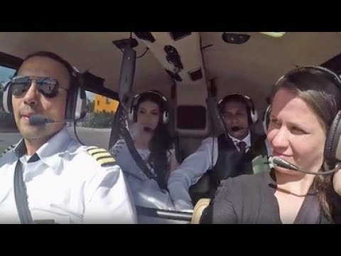 Salen a la luz las imágenes de un fatal accidente de helicóptero en el que viaja una novia camino a su boda