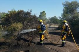 Estable el incendio declarado en una finca situada en el Camí Vell de Inca a Llubí