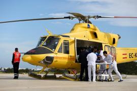 Herida grave una motorista al colisionar con un coche en Formentera