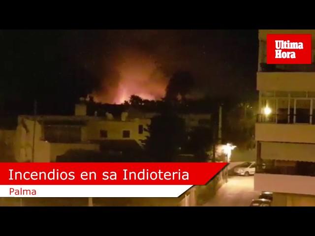 La Policía Nacional busca a un pirómano autor de varios incendios en sa Indioteria