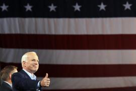 Detectan tumor cerebral al senador y excandidato a la Casa Blanca John McCain