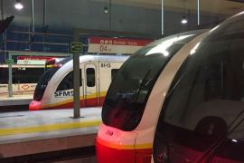 El tren de Manacor sufre retrasos por una avería y problemas de señalización ferroviaria