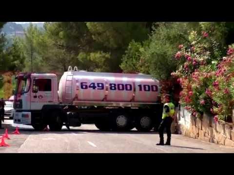 Un camión cisterna aplasta a su conductor en Son Vida tras fallar el sistema de anclaje