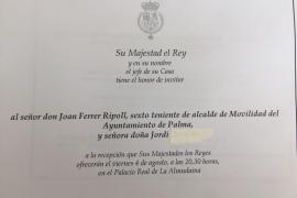 La Casa Real se dirige al marido del regidor de Mobilitat como 'señora doña Jordi'