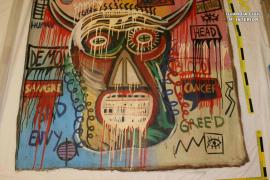 Una detenida por apropiarse de un cuadro de Basquiat sustraído en Pollença