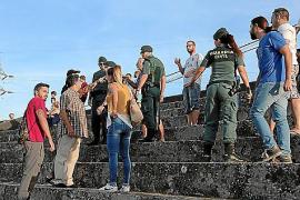 Incidentes en las gradas del Nou Camp d'Inca entre aficionados del Constancia y el Mallorca