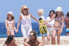 La Baronesa Thyssen disfruta de sus vacaciones en Ibiza