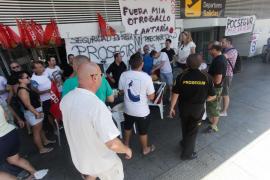 Fin a la huelga de vigilantes del aeropuerto de Ibiza (Fotos: Daniel Espinosa).