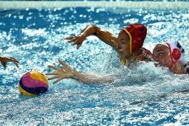 La selección española de waterpolo femenino choca con Estados Unidos y se queda con la plata en el Mundial