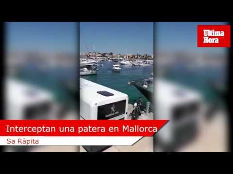 14 detenidos tras ser interceptados en una patera en aguas de Cabrera