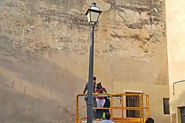 Sant Jeroni recupera su tapial con una rehabilitación «casi artesanal»