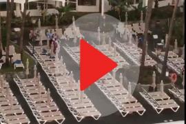 Carreras para coger una tumbona en un hotel de Gran Canaria