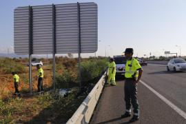 Una conductora se desmaya y sufre un accidente en la autopista de Inca