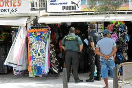 Gran operación contra la venta de falsificaciones en s'Arenal