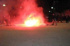 El Mallorca denuncia a la policía la quema de la pancarta de la Grada Jove