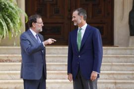 Felipe VI y Rajoy celebran este lunes el tradicional despacho de verano en Marivent